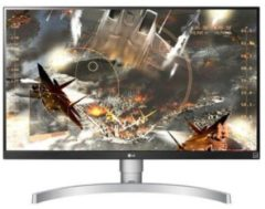 LG Electronics LG 27UK650-W - LED-Monitor - 68.58 cm (27'') - 3840 x 2160 4K - AH-IPS - 300 cd/m² - 1000:1 - 5 ms - 2xHDMI, DisplayPort - Headset - Silber (Halter) 2