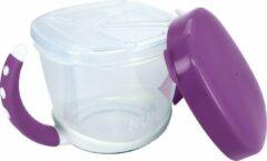 NUK 10255201 Easy Learning Snack Box, praktische opslag van kleine snacks voor onderweg, met deksel, BPA vrij, paars