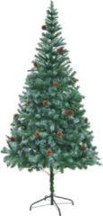 Groene VidaXL - Kerstboom Kunstkerstboom 210x140 cm met dennenappels 60179
