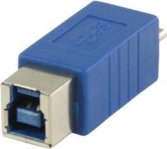 Blauwe Valueline VLCP61903L USB Micro B Mannelijk USB B Vrouwelijk Blauw kabeladapter/verloopstukje
