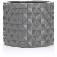 """HSE24 Keramik-Topf """"Graphik""""; rund - Grau"""