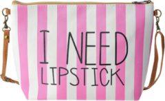 Juleeze Melady Toilettas Dames MLTT0070L 28*8*18 cm - Roze Polyester Make Up Tasje Make-Up Etui
