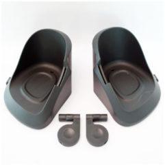Zwarte Widek - Qibbel Voetbak met Bevestigingsclips