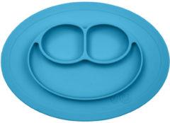 Ezpz mini placemat en bordje in één blauw Mini mat blauw