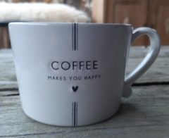 Gebroken-witte Bastion Collections | Mok White | Coffee makes you happy