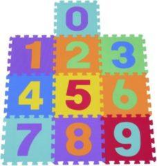 HOMCOM 10 tlg Matte Puzzlematte Spielmatte Turnmatte EVA Zahlen Matte Spielmatte Bodenschutzmatte Bodenmatte