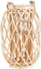 Beliani MAURITIUS - Windlicht - Lichte houtkleur - Wilgenhout