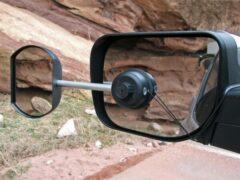 Zwarte Defa Caravanspiegel Easy Mirror Flat (Bestuurder)
