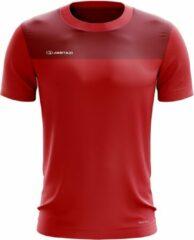 Jartazi T-shirt Bari Heren Polyester Rood Maat 3xl