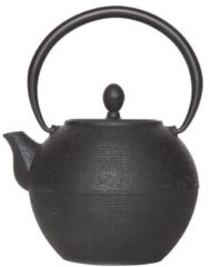 Cosy & Trendy Theepot Akita zwart gietijzer 1,25 liter met filter