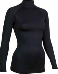 Zilveren Avento Shirt Base Layer Lange Mouw - Vrouwen - Zwart - Maat 38