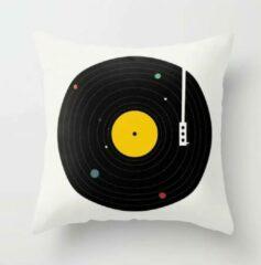 TAQI Velvet Terracotta Sierkussensloop -Hoge Kwaliteit Fluweel Kussen hoes-Past Ikea's Kussens- Super Zachte Korte Fleece-50*50cm-Grammofoonplaat