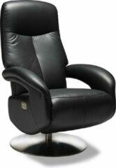 Solliden Ball stoel luxe verstelbare relaxfauteuil met motor echt leder zwart.