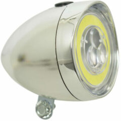 Dresco Classic LED COB Koplamp Fiets - Chroom