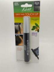 Zwarte Kiss products Kiss Quick Cover Gray Hair Touch Up Brush #00586 BGC01 Black 0.25oz