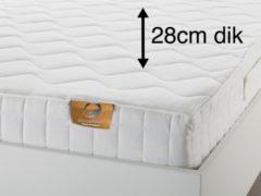 Witte SleepNext Luxe Stevig Matras 1200 micro veren - 160x200cm - tot 120kg – 28cm dik!