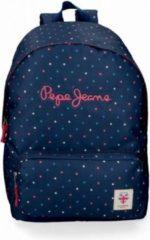 Blauwe Pepe Jeans school rugzak 42 cm