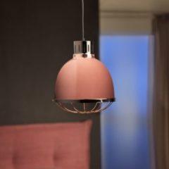 Wohnling Design Pendelleuchte FABRIC Kupfer Ø 32cm Kupferlampe mit Metallschirm Vintage Hängelampe Metalllampe Industrie Deckenleuchte E27 IP20