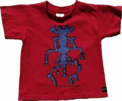 B & C Anha'Lore Designs - Alien - Kinder t-shirt - Rood - 3/4j (98/104)