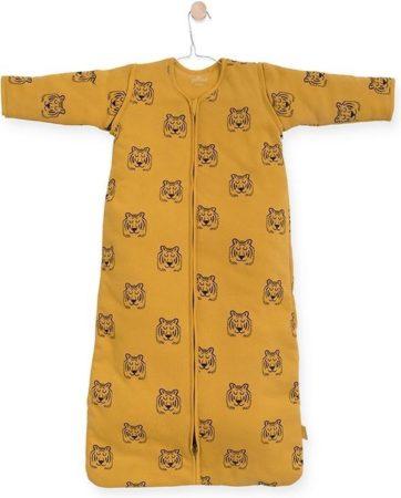 Afbeelding van Gele Jollein Tiger Padded Babyslaapzak met afritsbare mouw - 70cm - mustard