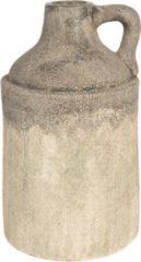 Clayre & Eef Decoratie Fles 6CE1228 Ø 19*33 cm - Meerkleurig Keramiek Decoratie Kan Mini Fles