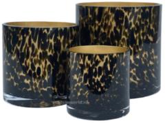 Vase the World Celtic gold cheetah Ø15 x H15 cm-2 stuks