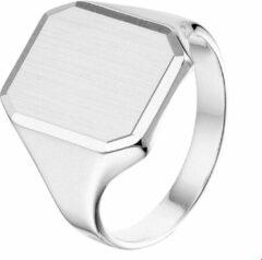 Vigor The Jewelry Collection For Men Graveerring Poli/mat Gediamanteerd - Zilver