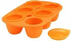 Babyvoedsel bewaarbakjes 6x, 60ml, oranje - Mastrad Baby