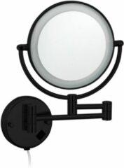 """Best Design Best-Design """"Black-Steiner"""" wand cosmeticaspiegel incl. LED verlichting """"Nero"""" mat-zwart"""