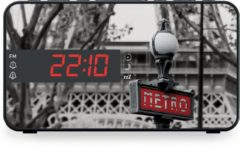 Rode Bigben-Interactive Bigben RR15METRO Wekkerradio met LED Display - Parijs Metro