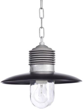 Afbeelding van Rode Buitenlamp Hanglamp Ampere Met Ketting - Rood - Ruw Aluminium - KS Verlichting