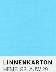 Lichtblauwe Linnenkarton notrakkarton Linnenkarton 29 Hemelsblauw A4 240 gr.