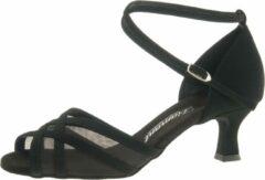 Dansschoenen Dames Zwart Diamant 035-077-040 - Zwarte Salsaschoenen - Maat 37