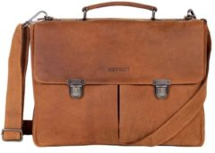 Bruine DSTRCT Wall Street A4 Business 15,4 inch Wall Street A4 Business leren laptoptas