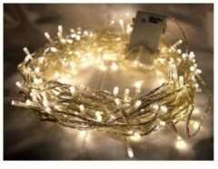 Transparante Groenovatie LED Kerstverlichting Op 3xAA Batterijen - Warm Wit - 2 Meter - 20 Lampjes