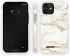 Gouden IDeal of Sweden Fashion iPhone 12 / 12 Pro Hoesje Golden Pearl Marble