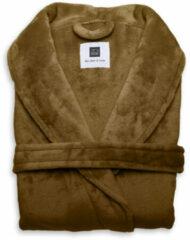 Bruine Zo! Home ZoHome Cara Badjas Lang - Fleece - Maat XL - Cognac Brown