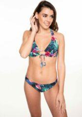 Zwarte Manouxx 212.23 Ladies flower triangle bikini