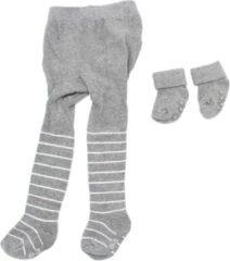 Grijze Merkloos / Sans marque Maillot en anti-slip sokken - Baby geschenkset - Schaap - Maat 86-92