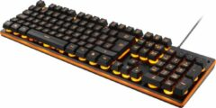DELTACO GAMING Deltaco - AZERTY gaming toetsenbord, zwart/oranje, LED verlichting
