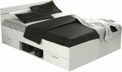 Witte Meubles Demeyere Twijfelaar bed (140x200) Michigan compleet met bedbodem en matras
