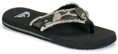 Groene Quiksilver Monkey Abyss Heren Slippers - Green/Brown/Black - Maat 14(47)