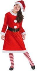 Rode B&W Filter WELLY INTERNATIONAL - Kerstvrouw kostuum voor meisjes - 122/134 (7-9 jaar) - Kinderkostuums
