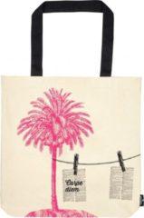 Moses Katoenen Tas Strandlectuur 39 X 42 Cm Wit/roze