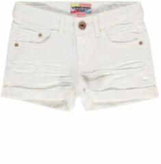 Vingino! Meisjes Korte Broek - Maat 116 - Wit - Jeans