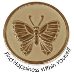 Quoins QMOZ-10S-G Munt Find Happiness Within Yourself goudkleurig