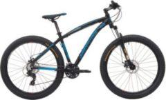 Cicli Cinzia 27.5+ Cinzia Sleek Plus 300 Mountainbike Aluminium 21 Gang 3 Zoll... schwarz-blau, 39 cm