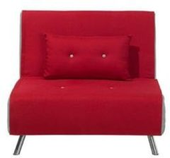 Rode Beliani Farris Slaapbank Polyester 87 X 100 Cm