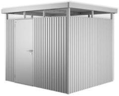 Zilveren Biohort Highline H3 zilver metallic 1 deurs - 275 x 235 x 222 cm
