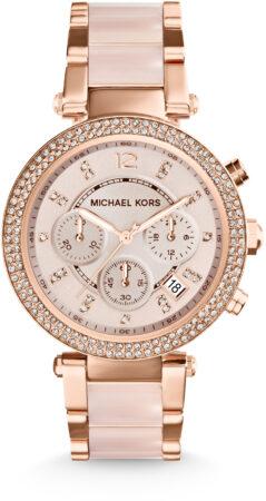 Afbeelding van Goudkleurige Michael Kors Parker horloge MK5896